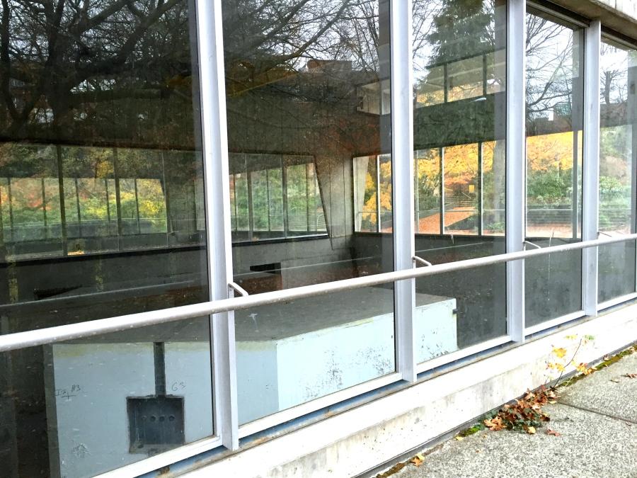 A peek through the windows of the Nuclear Reactor Building