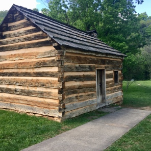 Restored cabin belonging to a family of a childhood friend of Lincoln's, located at Knob Creek.